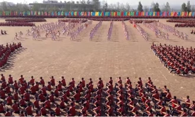 Shaolin'de Kung Fu Öğrencileri
