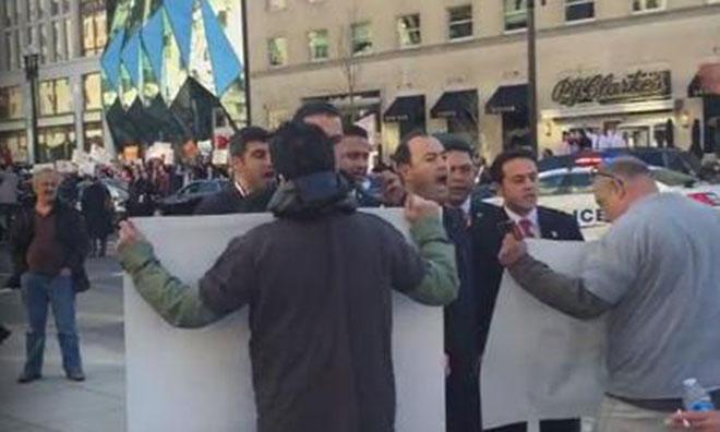 ABD'de Erdoğan Protestosu