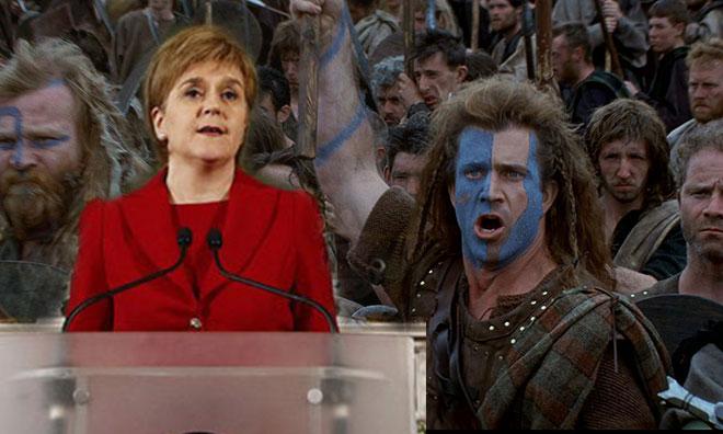 İskoçya'da Cesur Yürek Hortladı