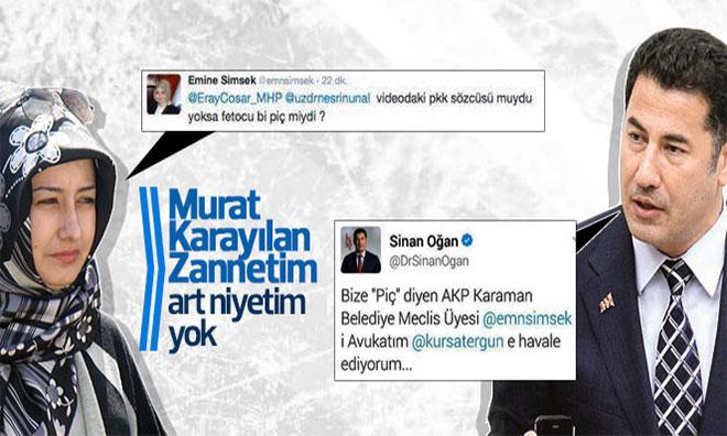 """AKP'li Kadından Sinan Oğan'a """"Piç"""""""