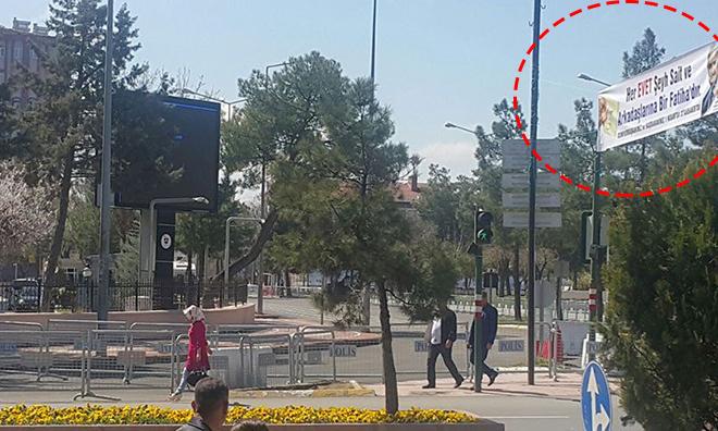 AKP'den Şeyh Sait Pankartı