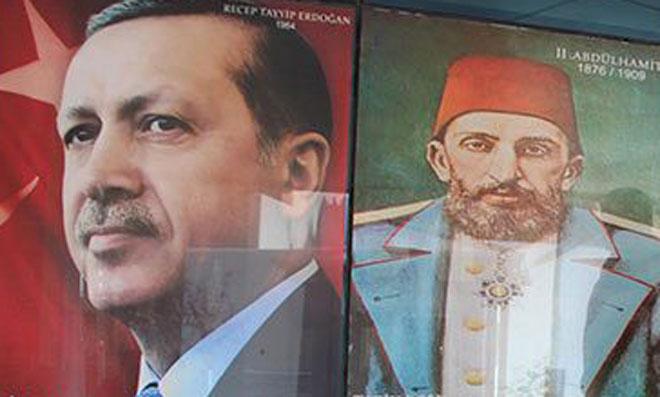 Atatürk Resmini Kaldırıp, Abdülhamid'i Koydular