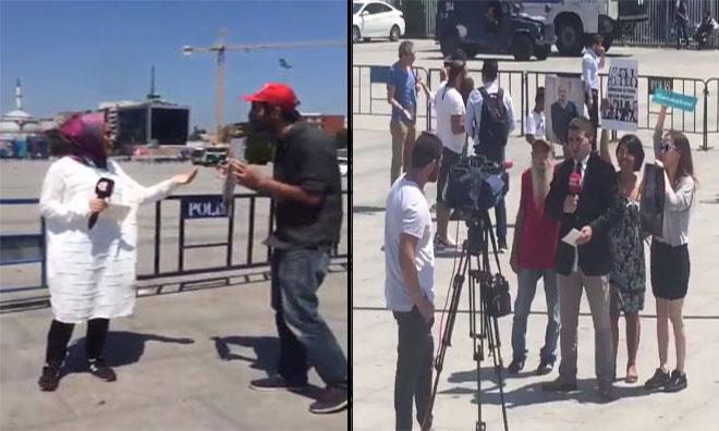 A Haber ve TRT Muhabirlerinin Zor Anları