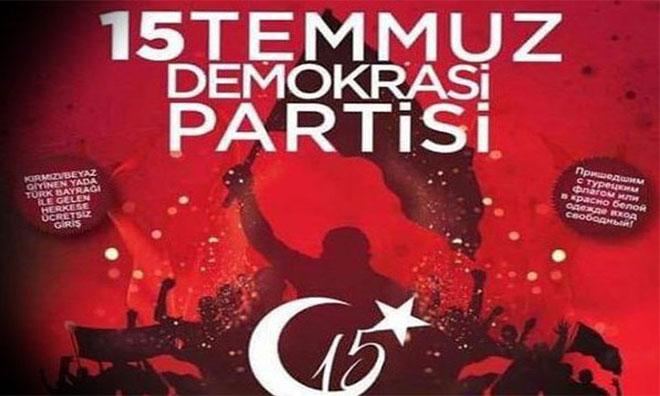 """15 Temmuz Partisi Rezaletine """"Çarpıtıldı"""" Yüzsüzlüğü"""