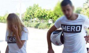 """""""Hero"""" Tişörtü Giyen Sevgililere Gözaltı"""