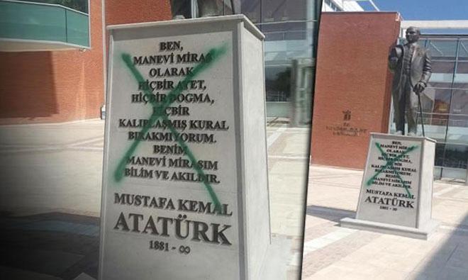 Eskişehir'de Atatürk Heykeline Saldırı