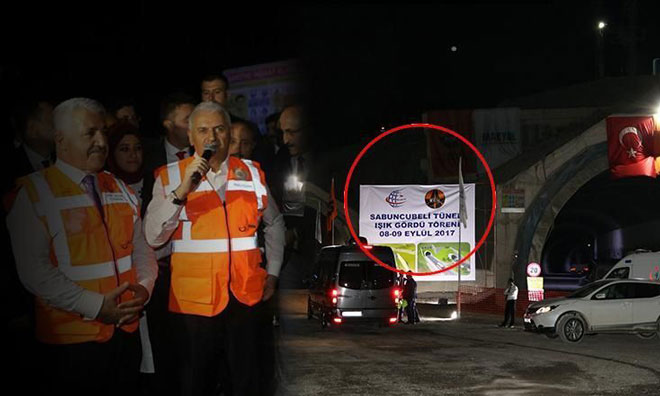 Bu da AKP'nin 'Işık Göründü' Töreni