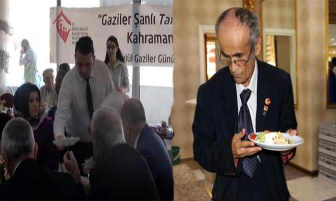 AKP'li Vekile Özel Garson, Gazilere Self Servis