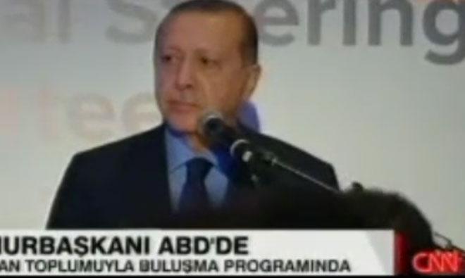 Erdoğan'a ABD'de Protesto Şoku!