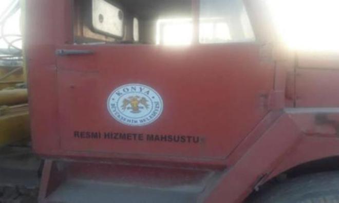 Rakka'da Konya Belediyesi Logolu IŞİD Kamyonu
