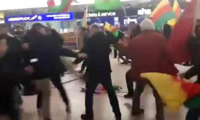 Havalimanı'nda Afrin Arbedesi